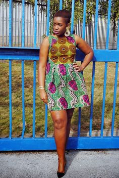 Community Service Mixed Print Dress + Christian Louboutin Pigalle 100's.