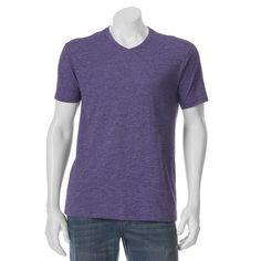Men's Apt. 9® Stretch V-Neck Tee, Size: Medium, Purple