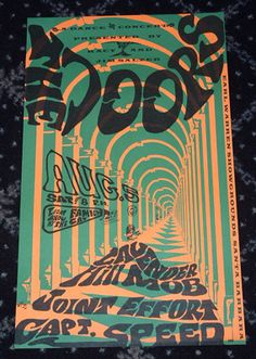 The Doors - Classic rock music concert psychedelic poster ~ ☮~ღ~*~*✿⊱ レ o √ 乇 !! ~