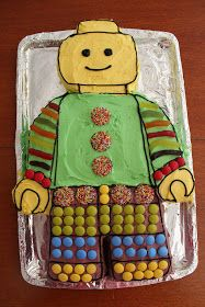 Love this simple lego minifig cake- frosting, not fondant. These are the cakes I prefer- ones that actually look edible! Bungalow Bliss: Six year olds, lego and waterbombs. I AGREE! Lego Birthday Party, Man Birthday, Birthday Parties, Lego Parties, Birthday Cakes, Birthday Ideas, Birthday Sayings, Birthday Greetings, Birthday Wishes