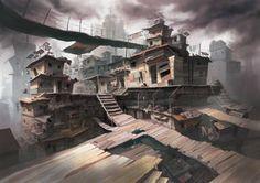 A Modern Slum by SillyJellie