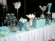 tiffany & co theme candy buffet. Kitchen tea idea
