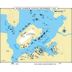 Universal Map U.S. History Wall Maps - Pearl Harbor: December 7, 1941