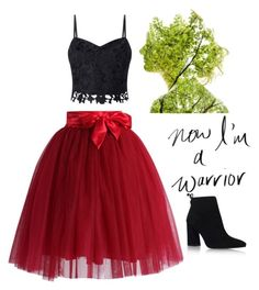 """""""Now I am a warrior"""" by little-miss-emo-girl ❤ liked on Polyvore featuring Lipsy, Chicwish and Stuart Weitzman"""