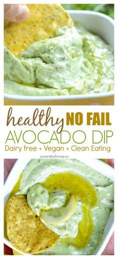 Simple Avocado Dip :http://www.sweetashoney.co/simple-avocado-dip/