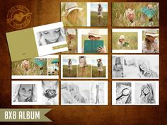 8x8 Mod Album Template for Photographers. $25.00, via Etsy.    Another example of how I design my albums. My images are what speak out not the design elements. That's what I like, simple but amazing at the same time.