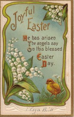 postcard.quenalbertini: Vintage Easter Card   Etsy