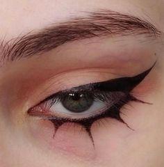 Punk Makeup, Edgy Makeup, Makeup Eye Looks, Eyeliner Looks, Eye Makeup Art, Pretty Makeup, Makeup Inspo, Makeup Inspiration, Beauty Makeup