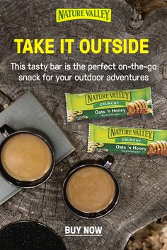 The best snack for your outdoor lifestyle: Nature Valley Oats N Honey Crunchy Granola Bars. This crunchy bar combines real honey with of whole grain oats for a portable treat on-the-go. Turkey Burger Recipes, Hamburger Recipes, Pork Recipes, Crunchy Granola, Granola Bars, Chicken Parmesan Recipes, Broccoli Recipes, Manhattan Recipe, Collard Greens Recipe