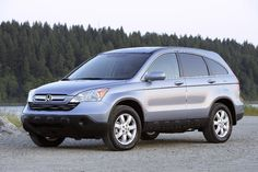 Honda CRV- baby blue. It really is a comfortable reliable vehicle.