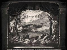""""""" Götterdämmerung """" 3.Aufzug 2.Bild Finale 1896  Bühnenphoto ca.1905"""