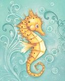 sea horse canvas at Rosenberry Rooms