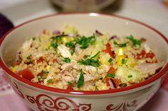 Salada de cuscuz com frango