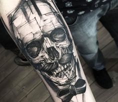 Skull tattoo by Fredao Oliveira