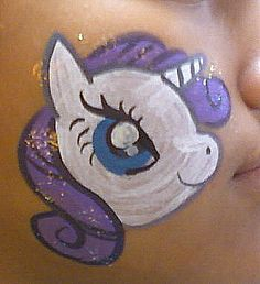 Rarity Face Painting 2 by AlicornLover on deviantART