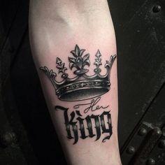 terrific crown tattoo #TattooIdeasForGuys