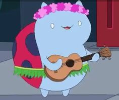 Cat bug  playing a uke