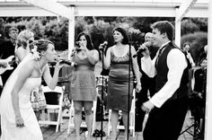 Brides that sing at their own wedding ~ love this shot from a DIY Frederick, MD wedding