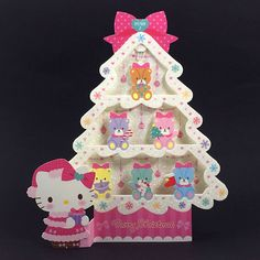 Hello Kitty Sparkling Christmas Tree w/ Illuminated Lights and 20 Melodies Card #Sanrio #ChristmasTree #Christmas