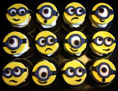 12 The Minons Cupcake Toppers on Etsy, $21.99. Or an idea for making them myself