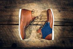 Handcrafted midtops/ ankle (chukka) boots. A meeting in the middle of my Sperry Topsider style loafers & custom hightops. A product of versatility,