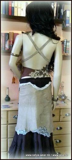 blatt-ledertop / rückansicht Goa, Outfit, Two Piece Skirt Set, Victorian, Skirts, Dresses, Fashion, Middle Ages, Leather
