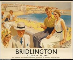 Vintage travel posters of British seaside resorts set to be auctioned Posters Uk, Train Posters, Railway Posters, Poster Ads, Beach Posters, British Travel, British Seaside, British Isles, Seaside Resort