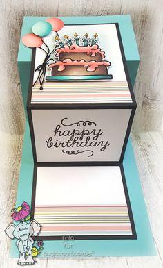 Fancy fold, double z birthday card using Bugaboo and Stampin& Up stamps. Fancy fold, double z birthday card using Bugaboo and Stampin& Up stamps. The post Fancy fold, double z birthday card using Bugaboo and Stampin& Up stamps. Z Cards, Flip Cards, Fancy Fold Cards, Kids Cards, Folded Cards, Joy Fold Card, Easel Cards, Happy Birthday Cards, Birthday Greeting Cards