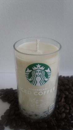 Recycled Starbucks Bottle Candle by RosaGlen on Etsy, $8.00