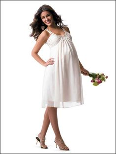 "Maternity Wedding Dresses Gone are the Days of the Maternity Bridal ""Moo-Moo""! Pregnant Bridesmaid, Maternity Bridesmaid Dresses, Pregnant Wedding Dress, Maternity Wedding, Maternity Outfits, Cheap Bridesmaid Gifts, Bridesmaid Ideas, Bridesmaids, Nice Dresses"