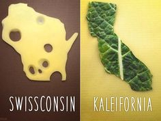PHOTOS: Dad And Eight-Year-Old Son Make Food Puns Shaped LikeStates