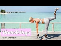 Hamstrings & Glutes Workout - TONED LEGS   Rebecca Louise - YouTube