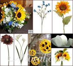 #Yellow #Rustic wedding #afloral http://blog.afloral.com/inspiration-boards/kimberlys-sunflower-inspiration-board/