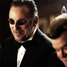 "Bruce Springsteen guest-starring on Steven Van Zandt's show ""Lilyhammer."""