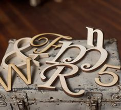 Ready to paint wood letters in any font and size.