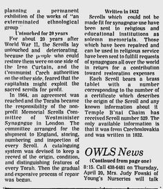 Temple B'nai Chaim Receives Torah Scroll Written in 1832 (Ridgefield Press, April 6, 1978 - Page 2)