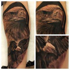 Bald Eagle Tattoo  - http://tattootodesign.com/bald-eagle-tattoo/  |  #Tattoo, #Tattooed, #Tattoos