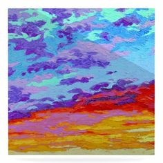 """East Urban Home 'Dancing Clouds' Painting Print on Metal Size: 10"""" H x 10"""" W x 1"""" D"""