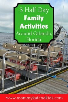 If you have an extra half-day in Orlando, don�t spend it sitting at home! Here are 3 fun things to do with kids in Orlando. They�re affordable day trips and something your whole family will enjoy. Don�t forget to save these day trips in Orlando to your tr