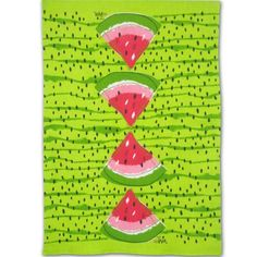 Vera Neumann watermelon tea towel