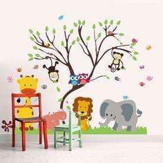 Sticker Monkey Animal Forest Tree