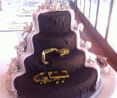 Open Pit Wedding Cake