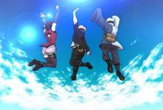 Tags: Fanart, NARUTO, Pixiv, PNG Conversion, Fanart From Pixiv, Uchiha Sarada, Uzumaki Boruto, Mitsuki (NARUTO), Boruto: Naruto the Movie, Team Konohamaru, Pixiv Id 2836060