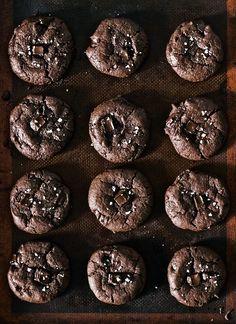 Salted Chocolate Diablo (ginger + cayenne) Cookies via The Artful Desperado