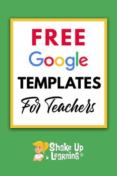 Click here to check out these FREE Google Templates for teachers! | Shake Up Learning Teaching Technology, Educational Technology, Welcome To Class, Teaching Special Education, Education Logo, Shake, Google Classroom, Piano Teaching, Teaching Tips
