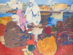 Peinture Port d'Alger - L'Amirauté d'Alger par Léon Cauvy