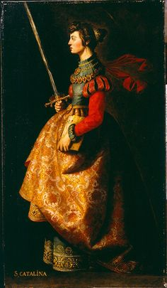 Santa Caterina      Francisco de Zurbarán (1598-1664)