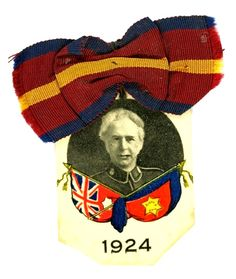 Salvation Army Celluloid Badge & Ribbon
