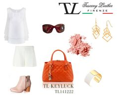 All White Graduation for the TL KEYLUCK Soft Quilted Leather Duffle #Bag #Outfit.  #tuscanyleather