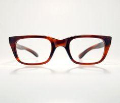 b4b9728d475 Simba-1950s Demi Amber Tortoiseshell Cat Eye Eyeglasses Unisex Optical  Frame Italy 48 24 NOS